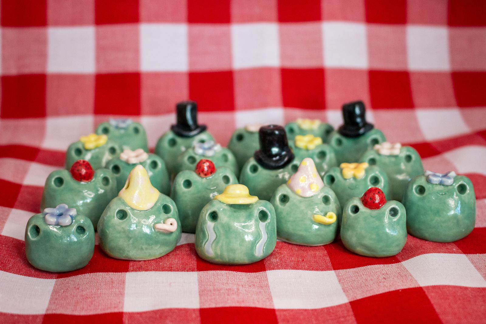 Ceramic Froggy Incense Holders