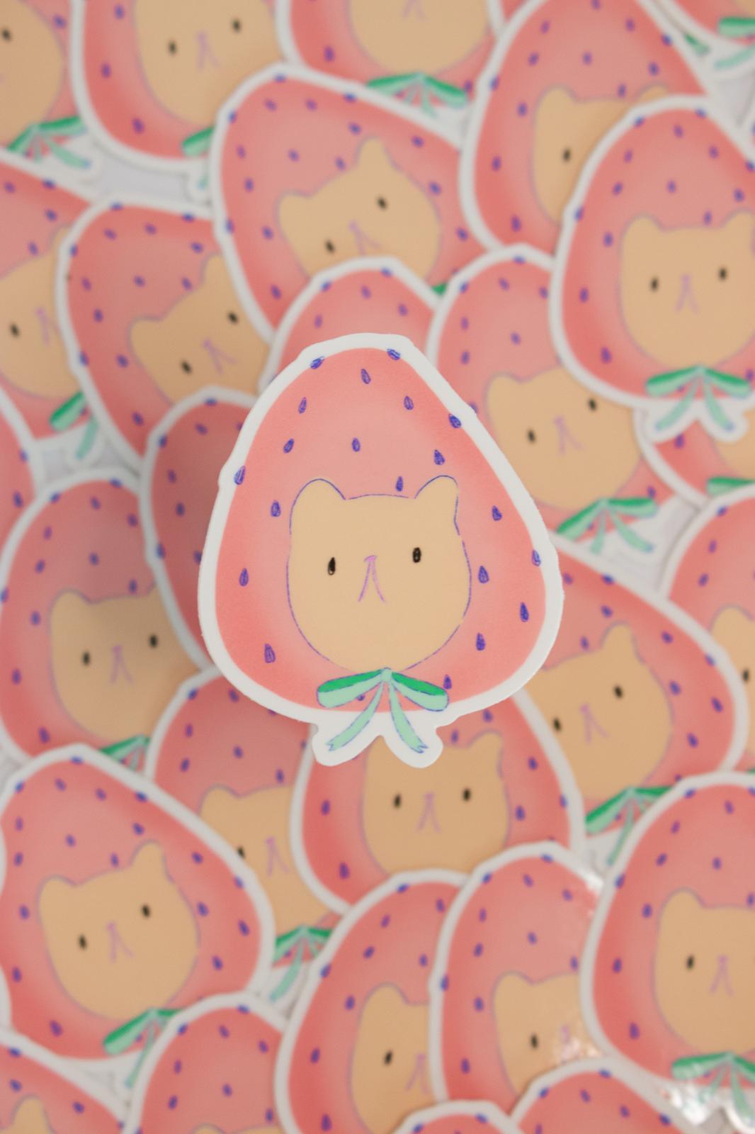 Strawberry Bear Cherub