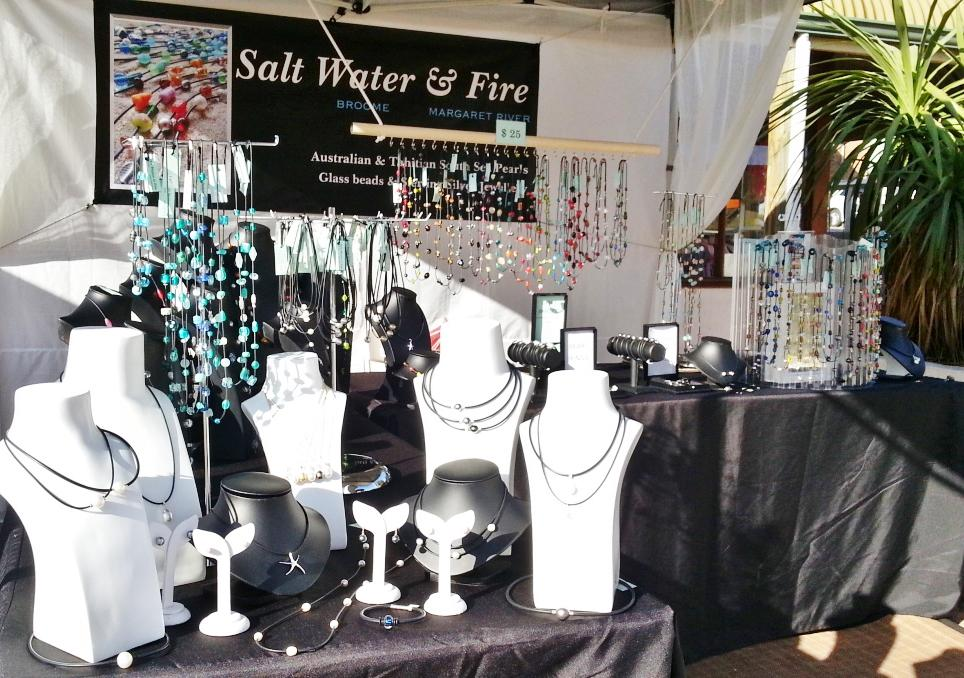 Salt Water & Fire Stall,colourful necklaces from $25