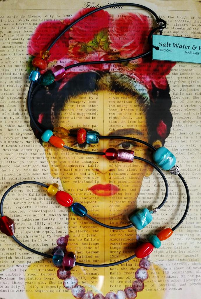 Folk colours inspired by Frida Kahlo, an inspiring Artist