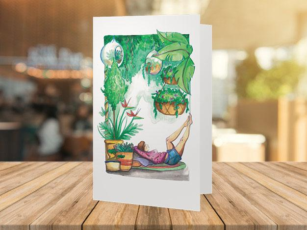 """The Greenhouse Is The Safehouse"" Greeting Card"