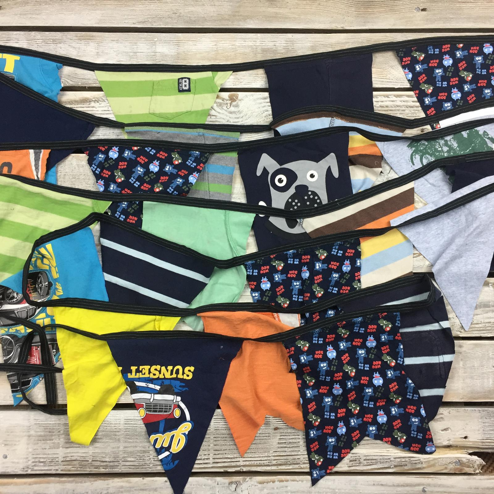 Recycled T-shirt Bunting