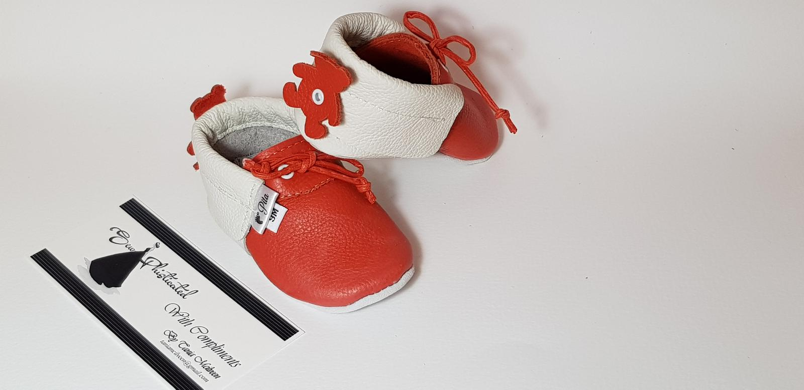 Pita moccasins. Leather Soft sole baby shoes.