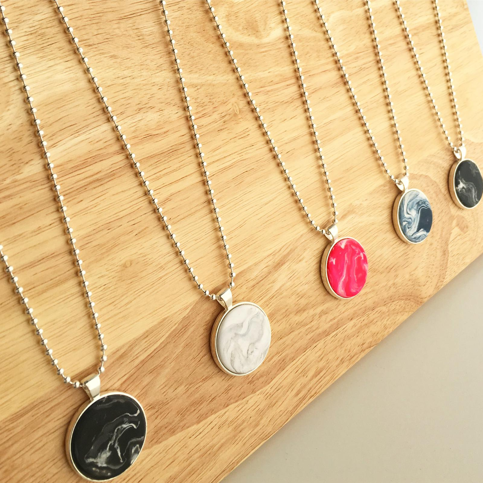Polymer Clay Pendant Necklaces