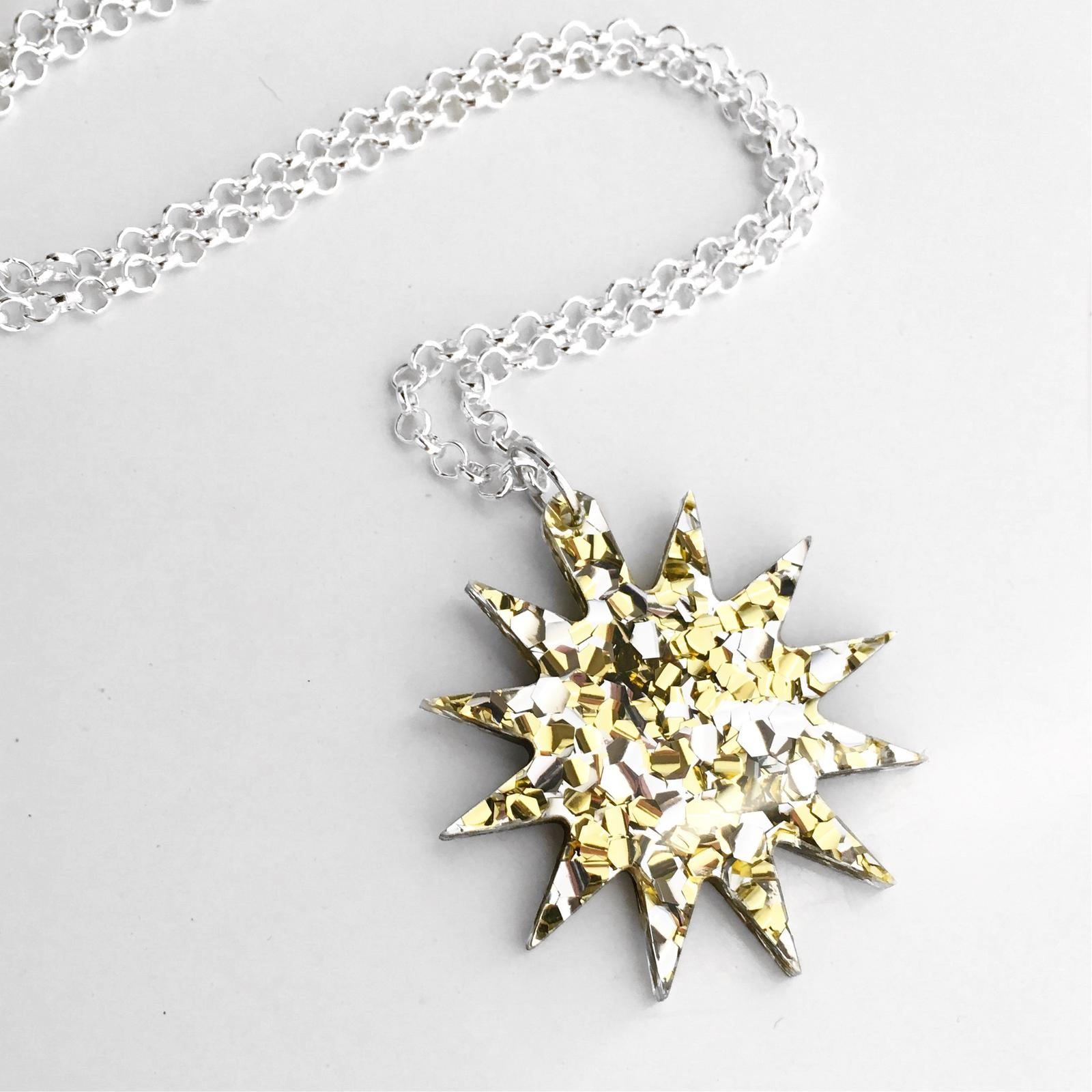Laser Cut Pendant Necklace