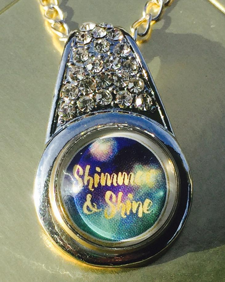 Shimmer & Shine insert made from a business card