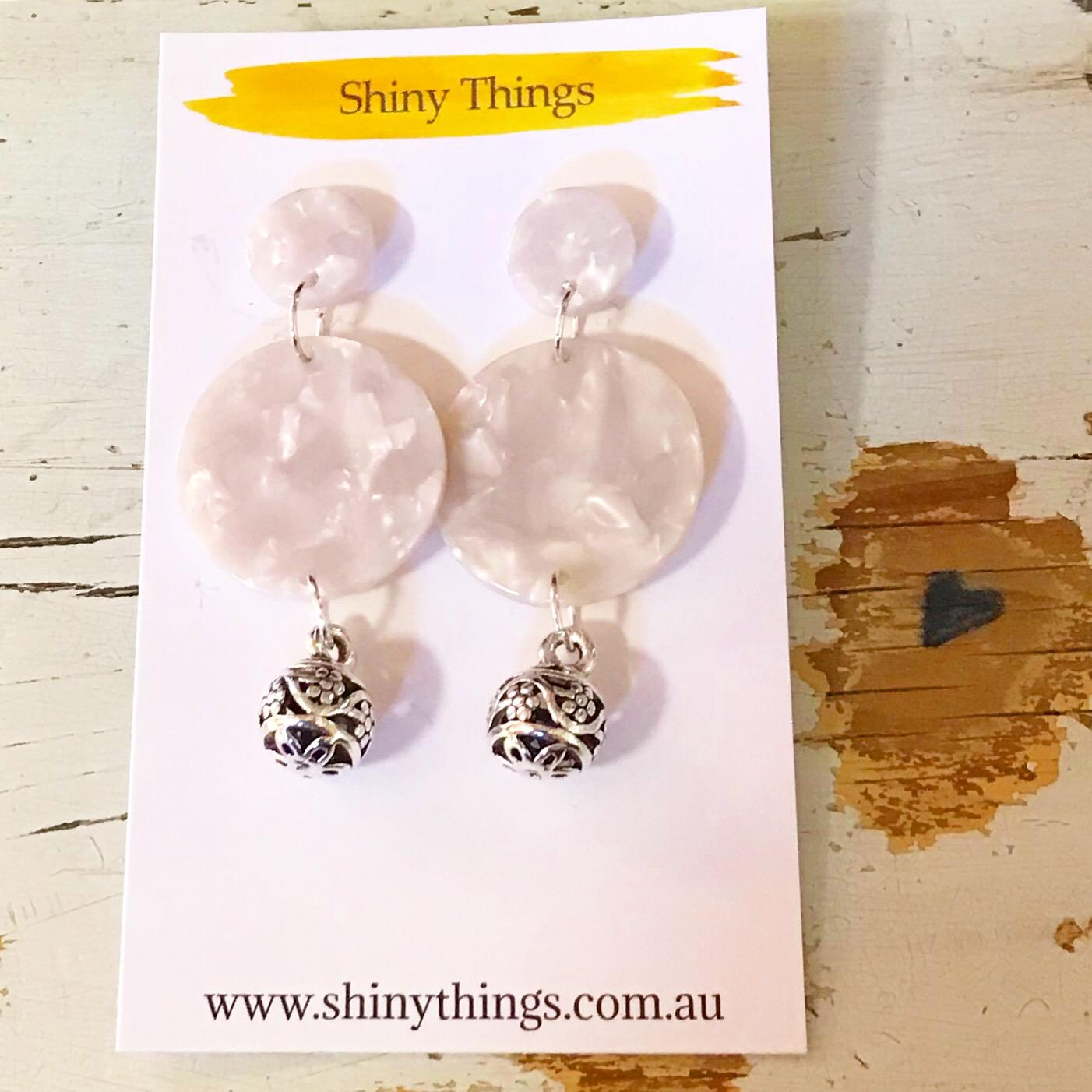 mother pearl earrings