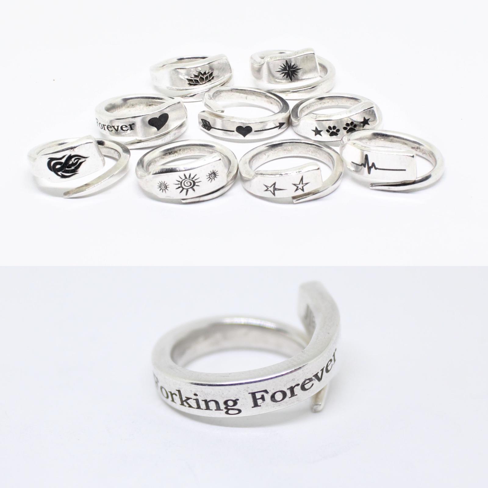 Sterling Silver Fork Prong rings