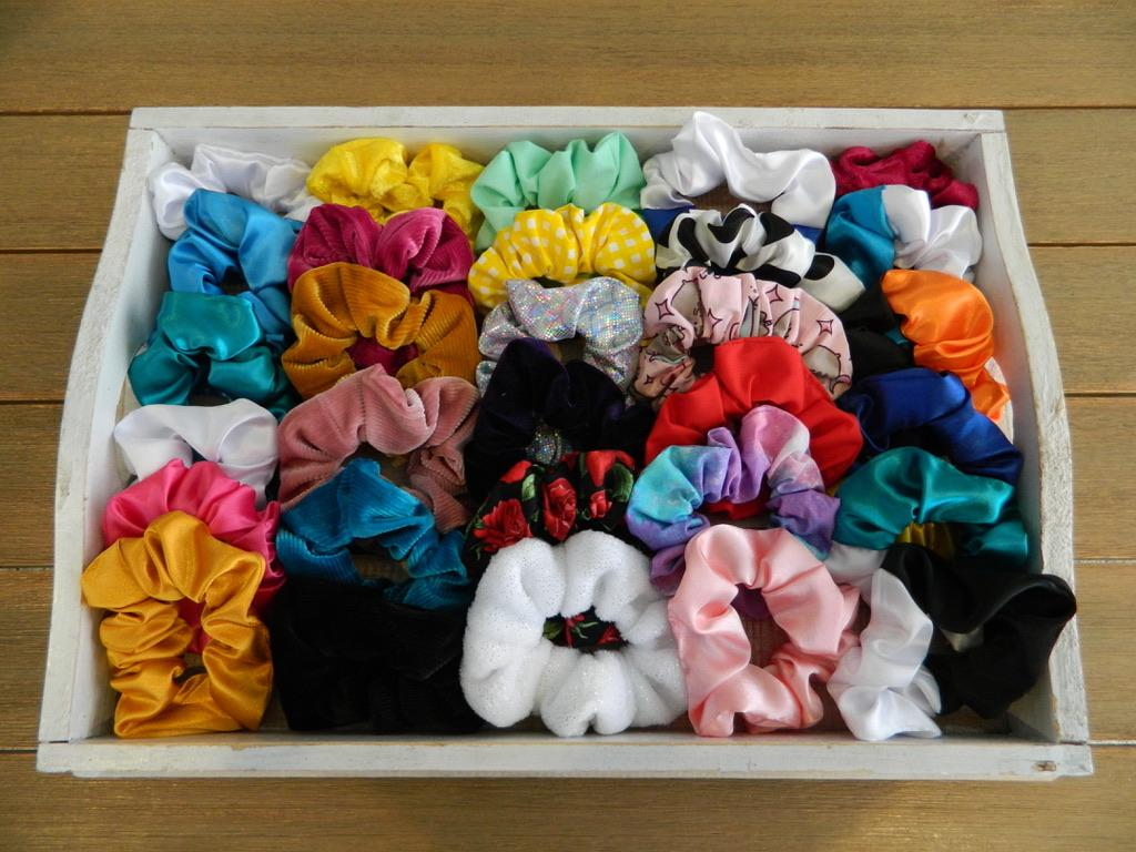 Selection of available scrunchies