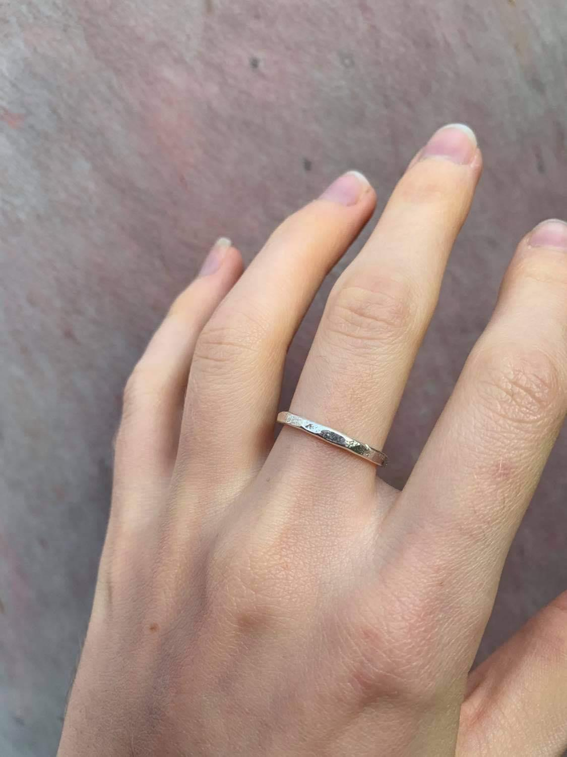 Sterling Silver Rustic Band