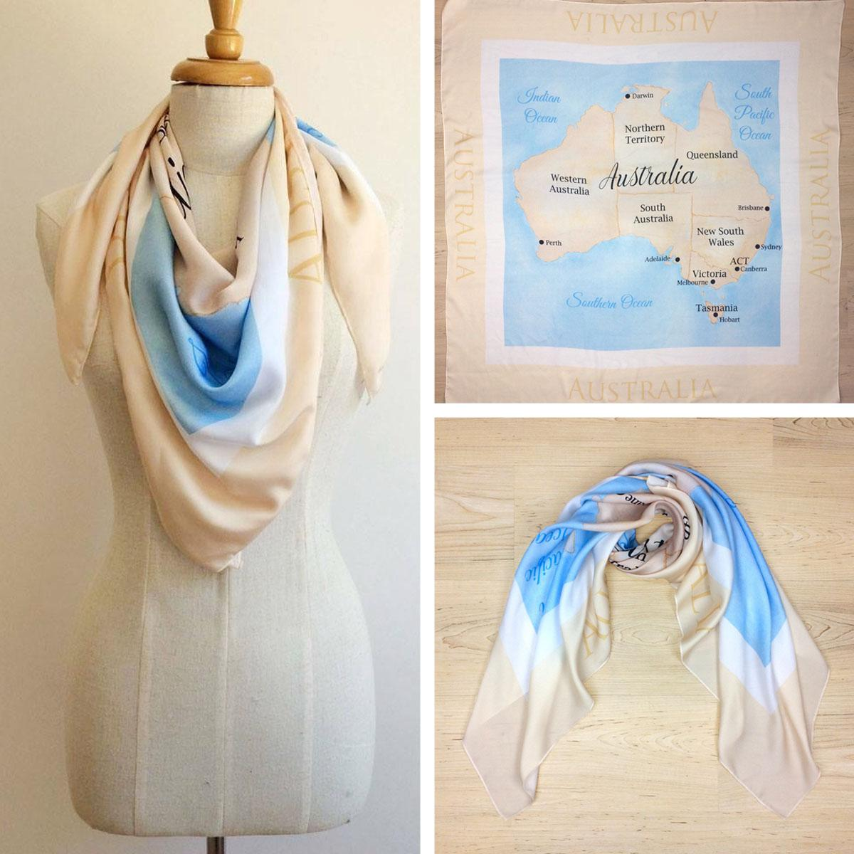 Map of Australia Scarf
