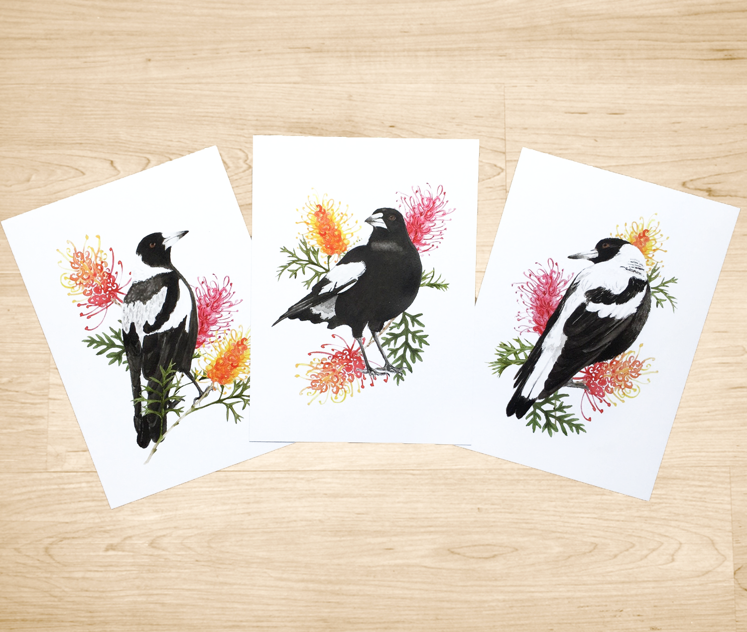 Magpie art prints
