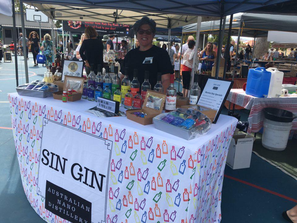 Sin Gin Distillery Market Stall
