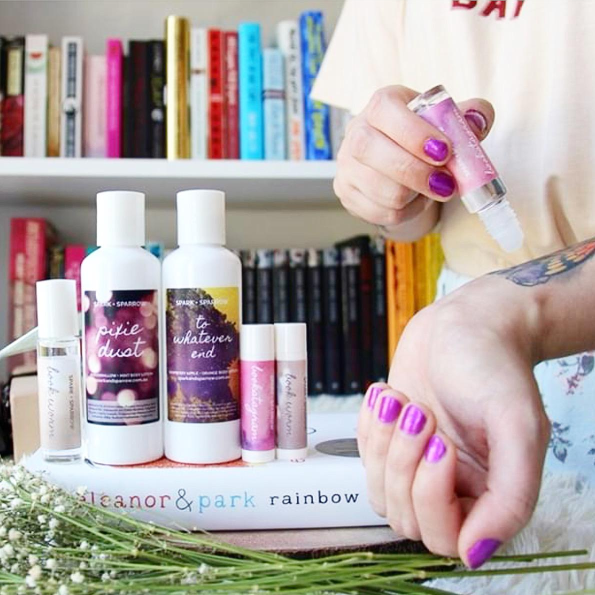 Bookish body products
