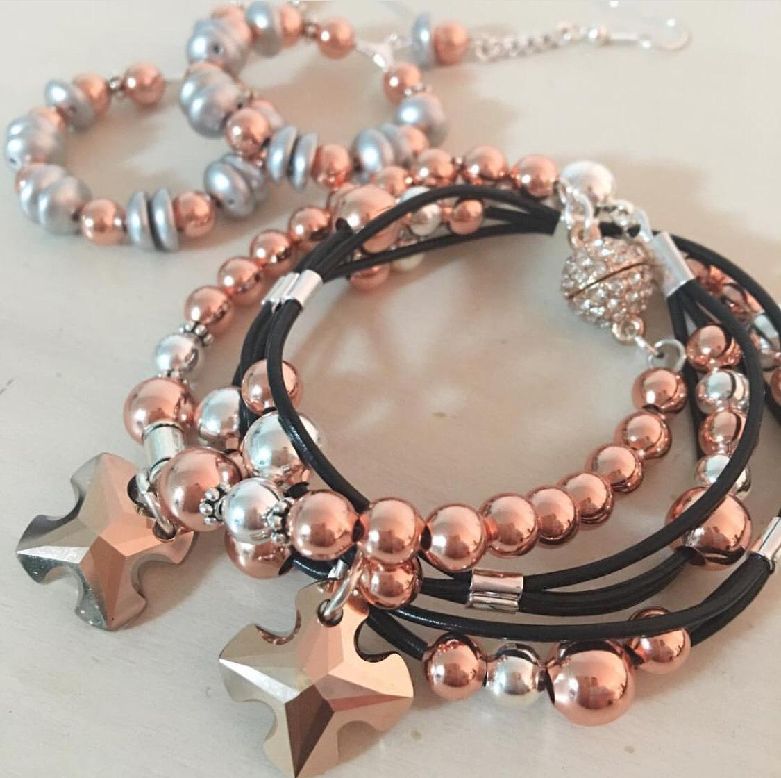 Rose gold wrap bracelet n more
