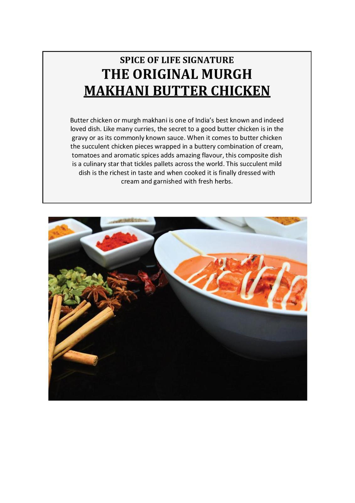 The Original Murgh Makhani Butter Chicken