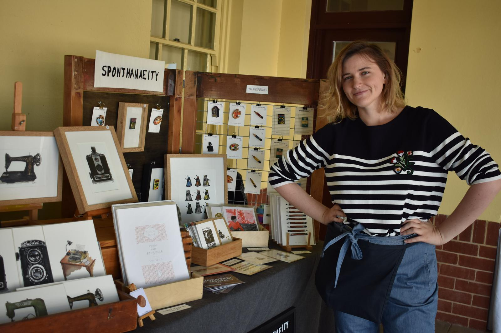 Artist and Stall at Perth Makers Market