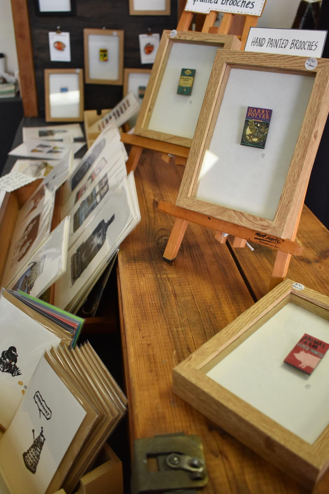 Framed Brooches & Stall