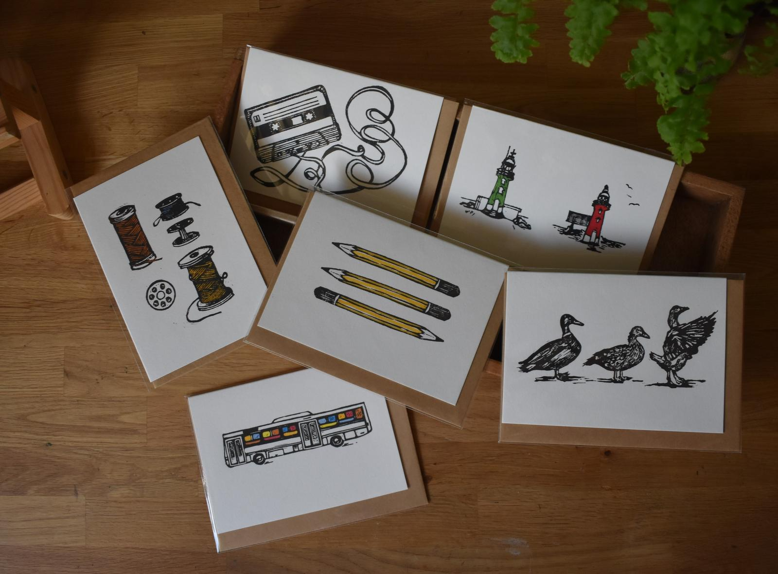 Handmade Relief Print Cards