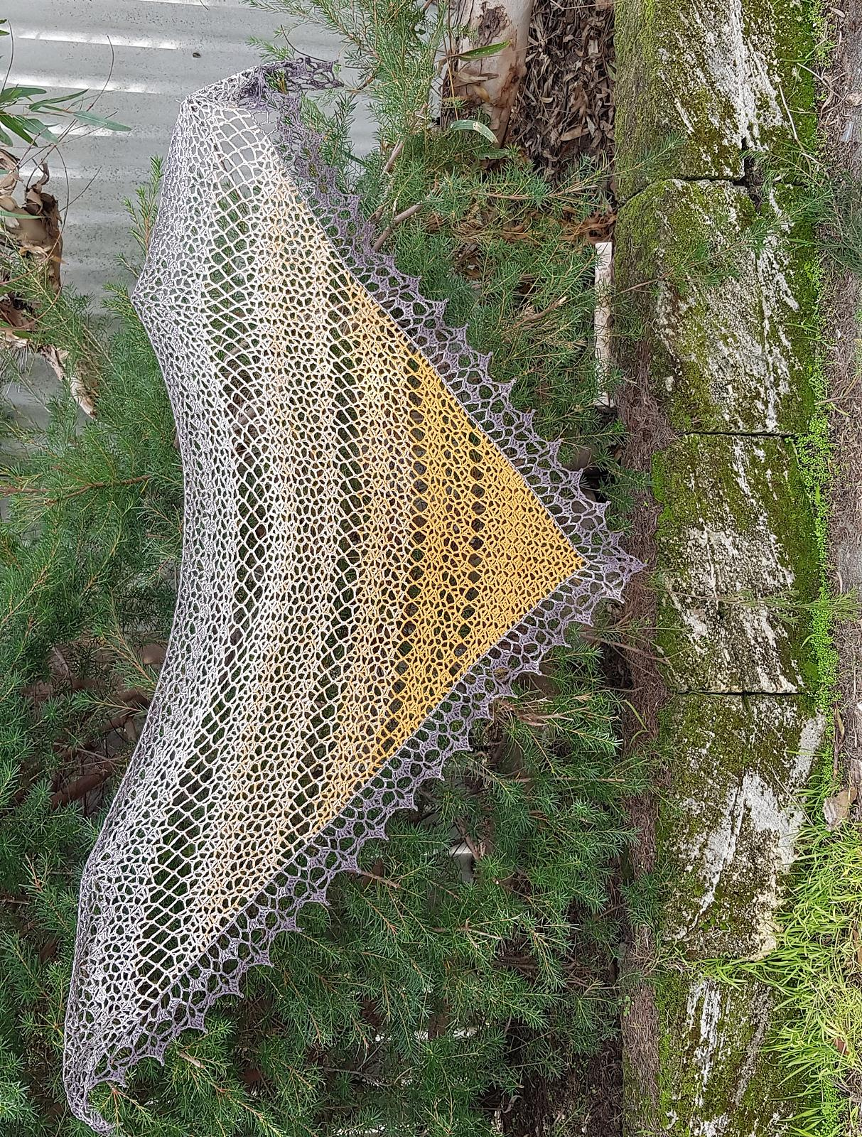 Elegant neutral shawl
