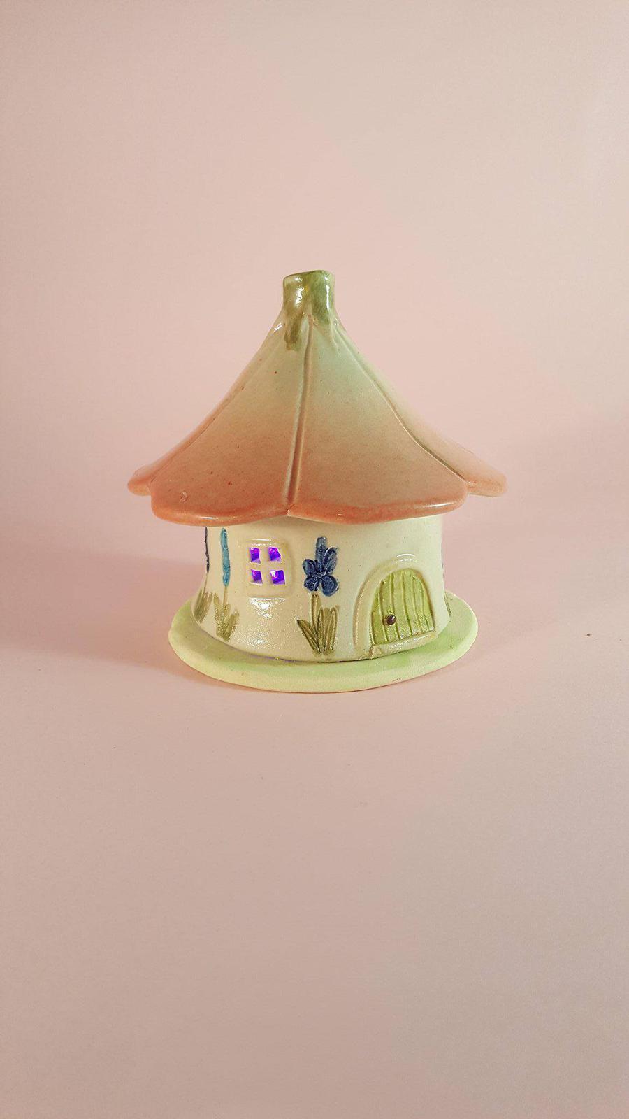Handmade Ceramic Incense House