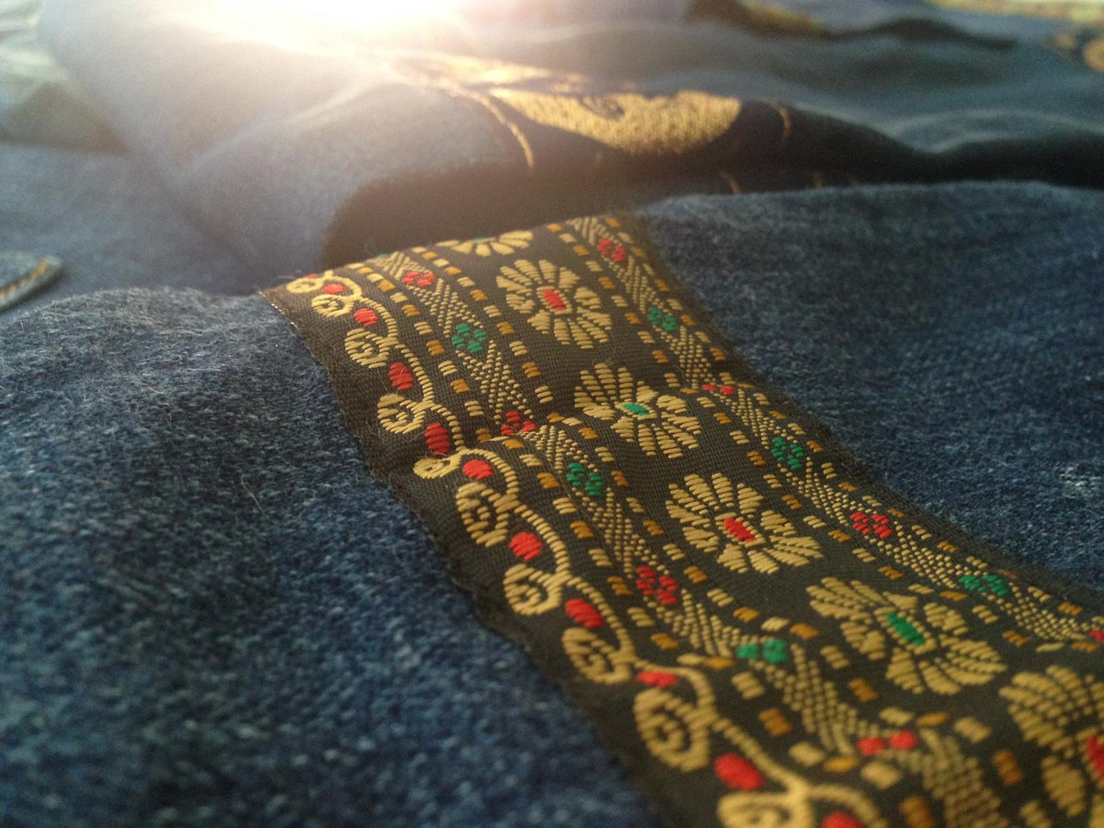 Upcycled Cuff Details