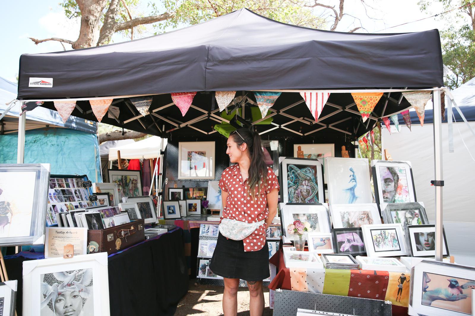 TeeKay Artwork market stall