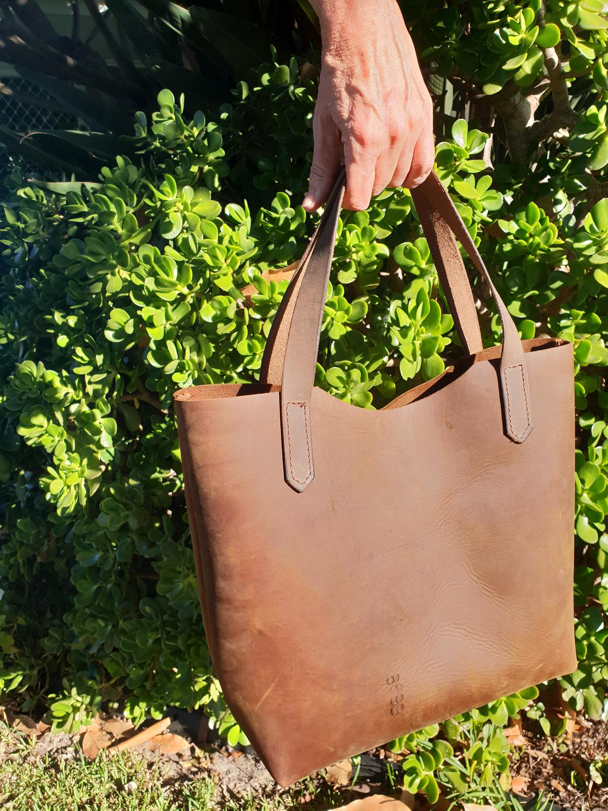 Antique Brown Tote Bag