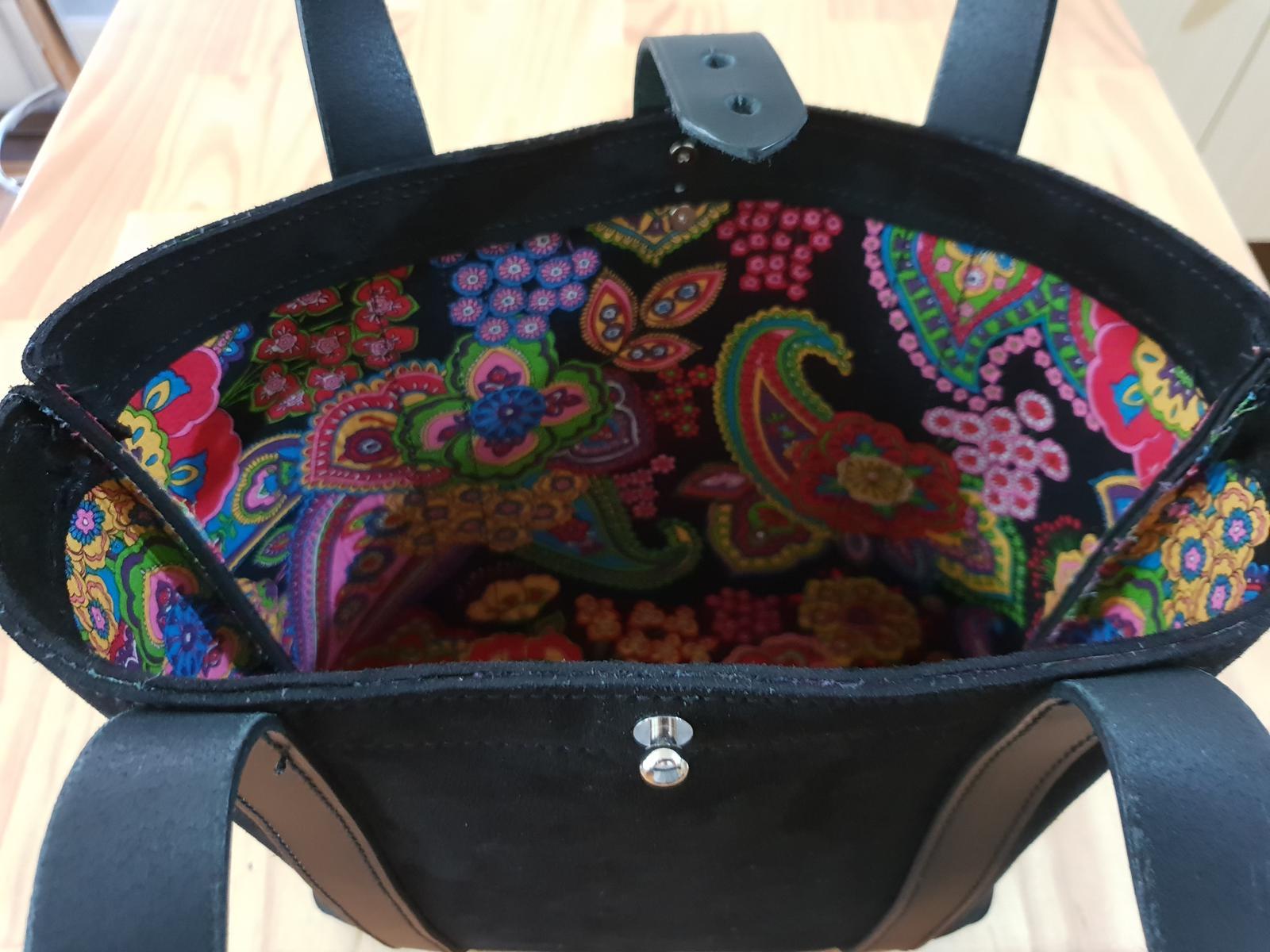 Black Suede Tote Bag