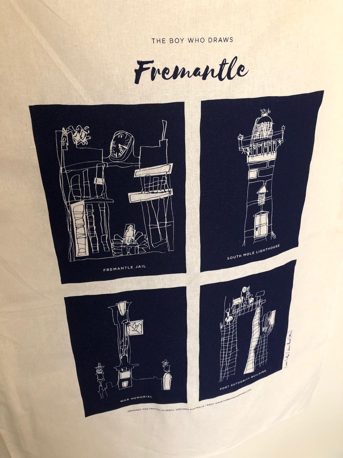 Fremantle Tea Towel By The Boy Who Draws