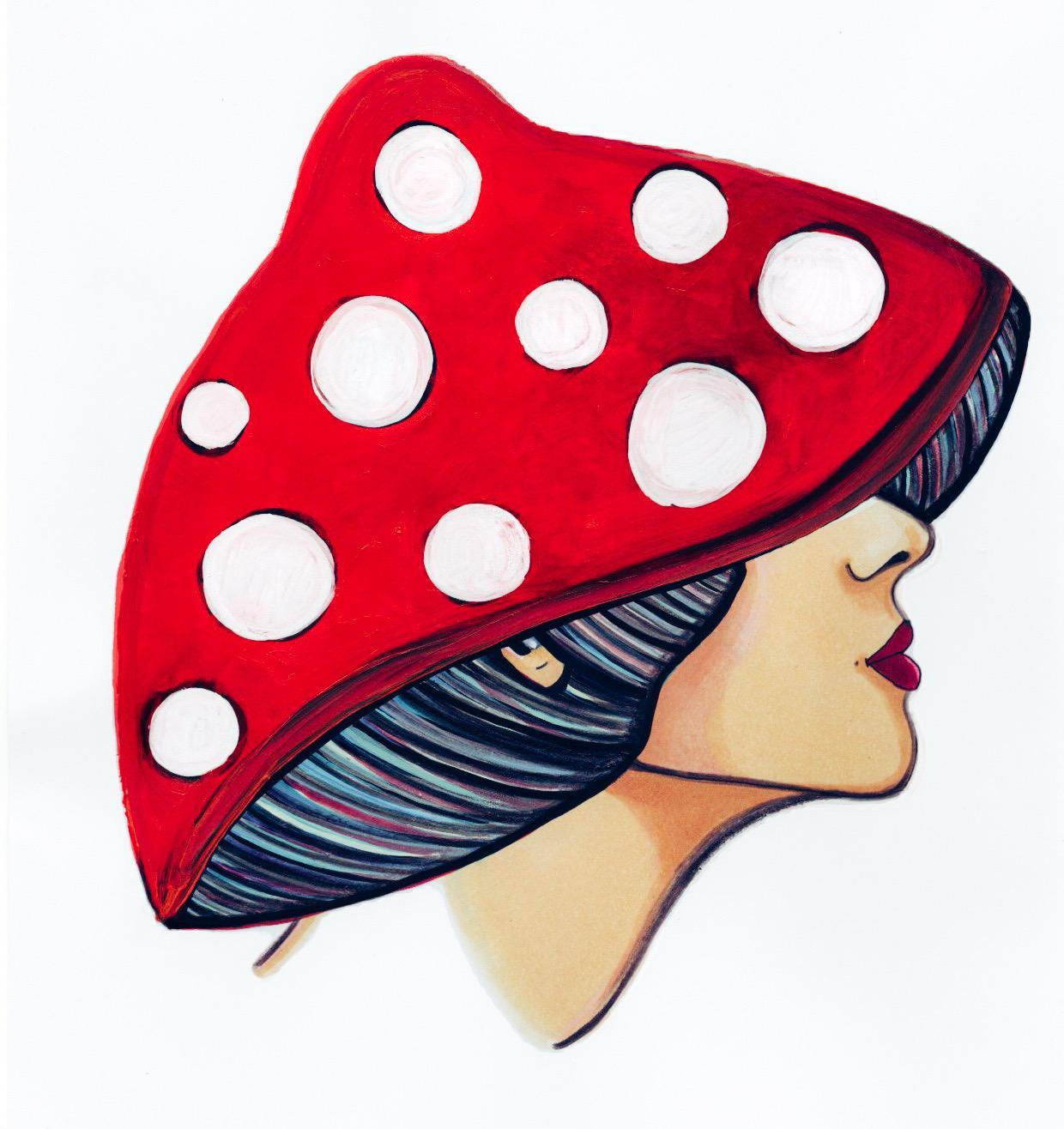 Mushroom lady 1 - print