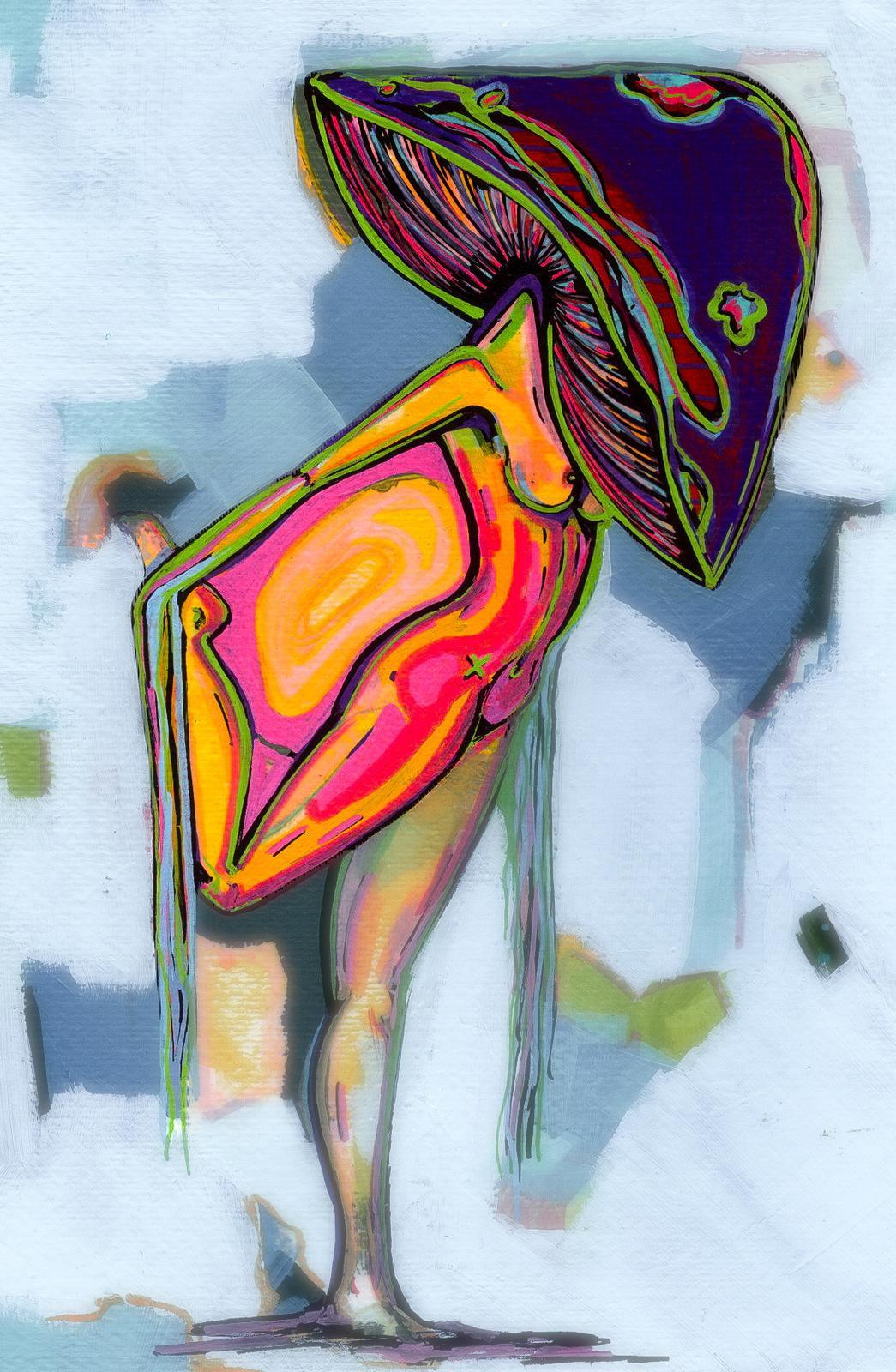 Mycology Girl - Art Print by me