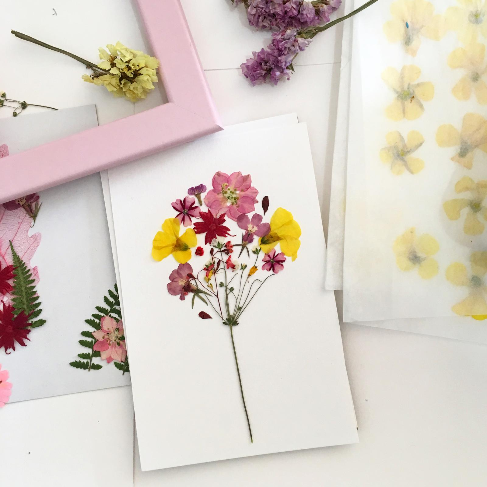 Behind the scenes of making floral frames