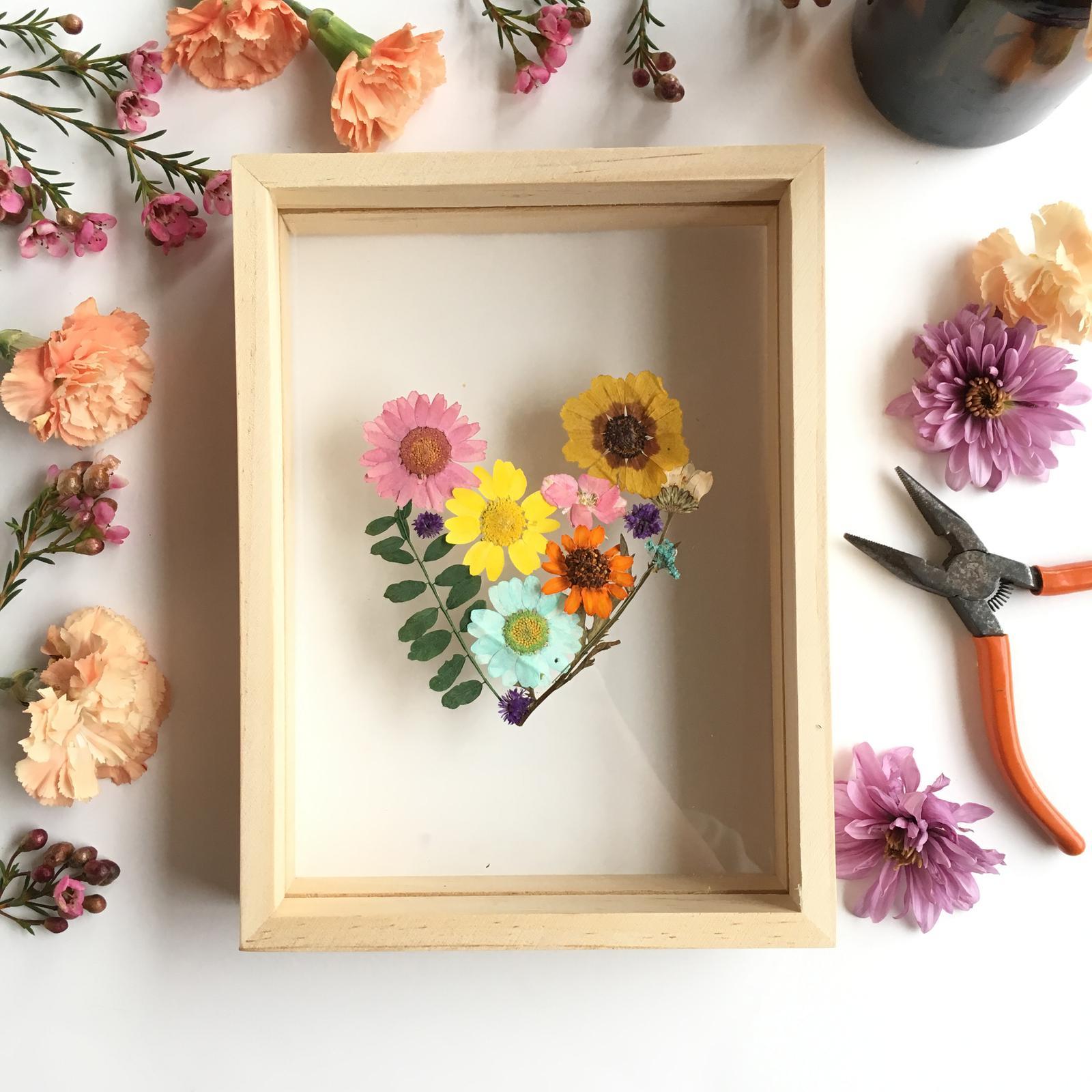 Heart Shaped Floral Frame