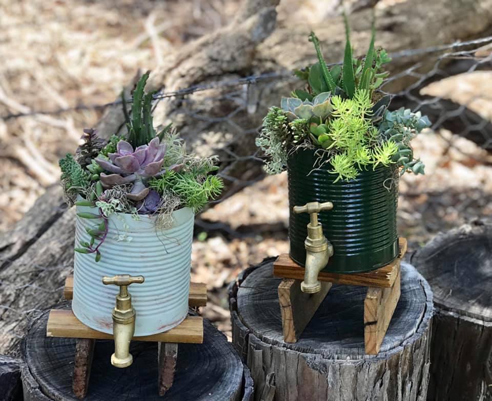 Mini Tank Stand planters
