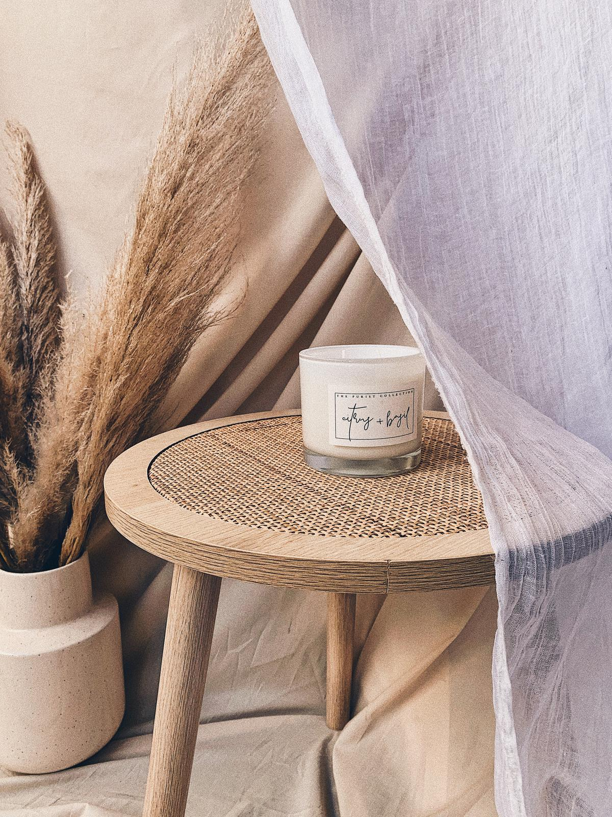 The Purist Collection   Natural Soy + Coconut Wax Candles