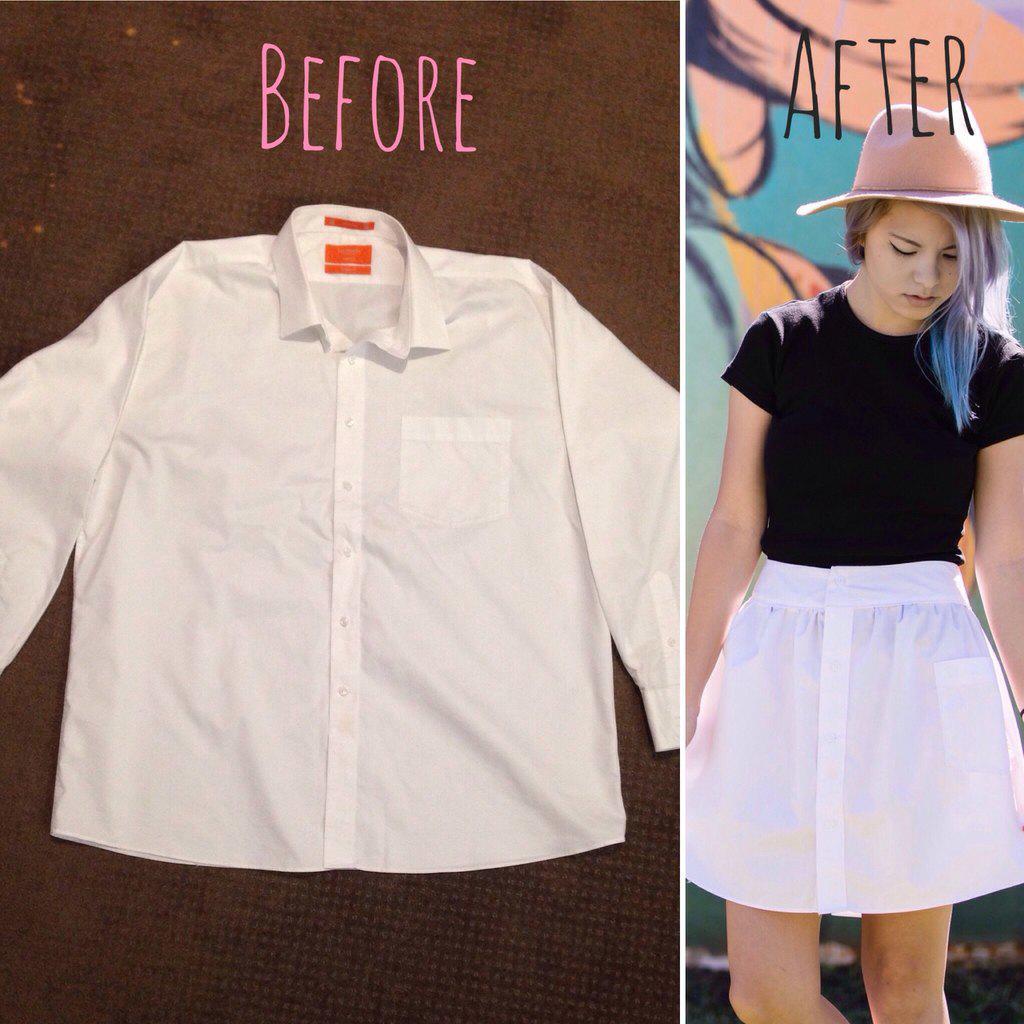 White mini-skirt