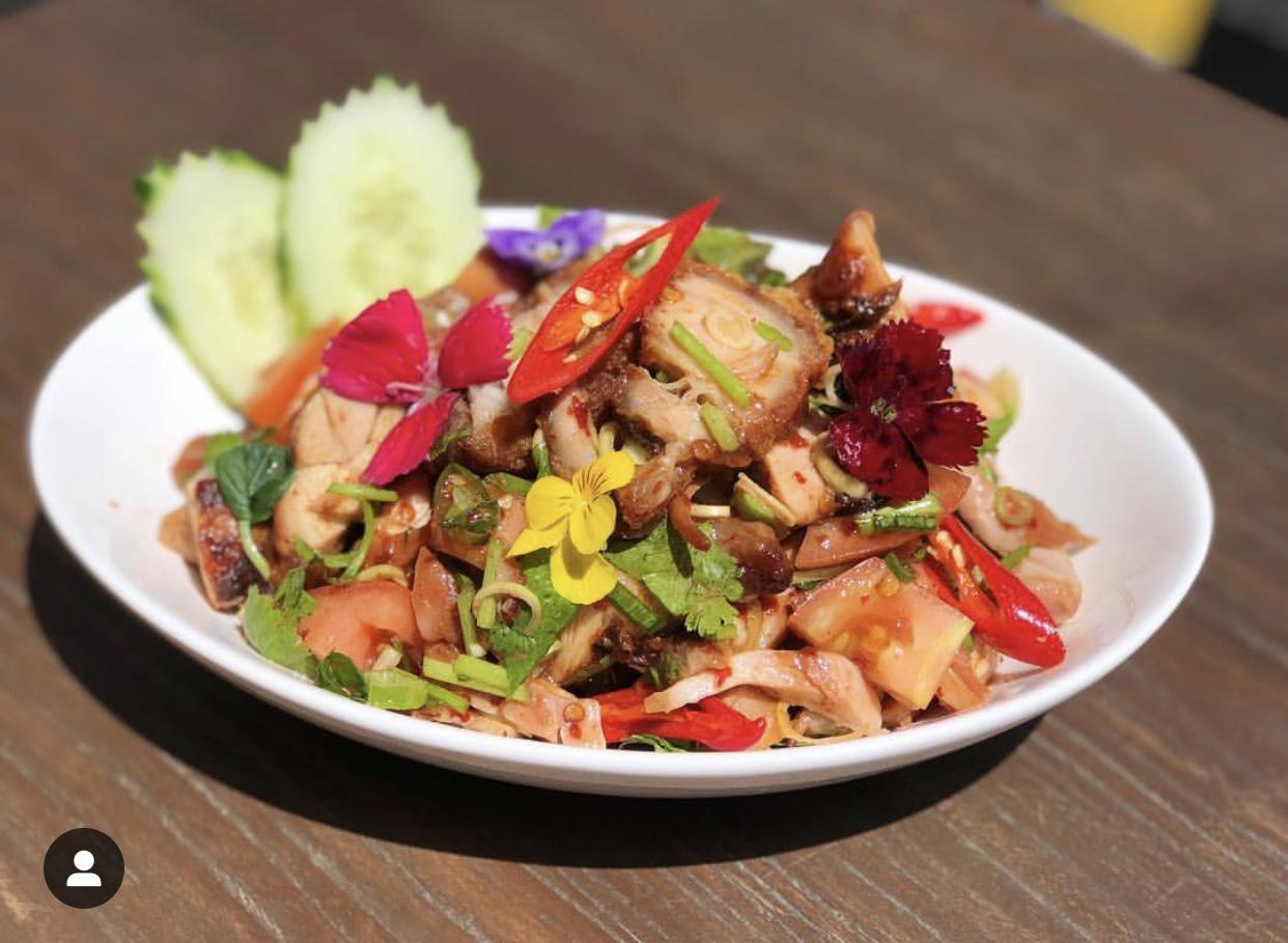 Cripsy Pork salad