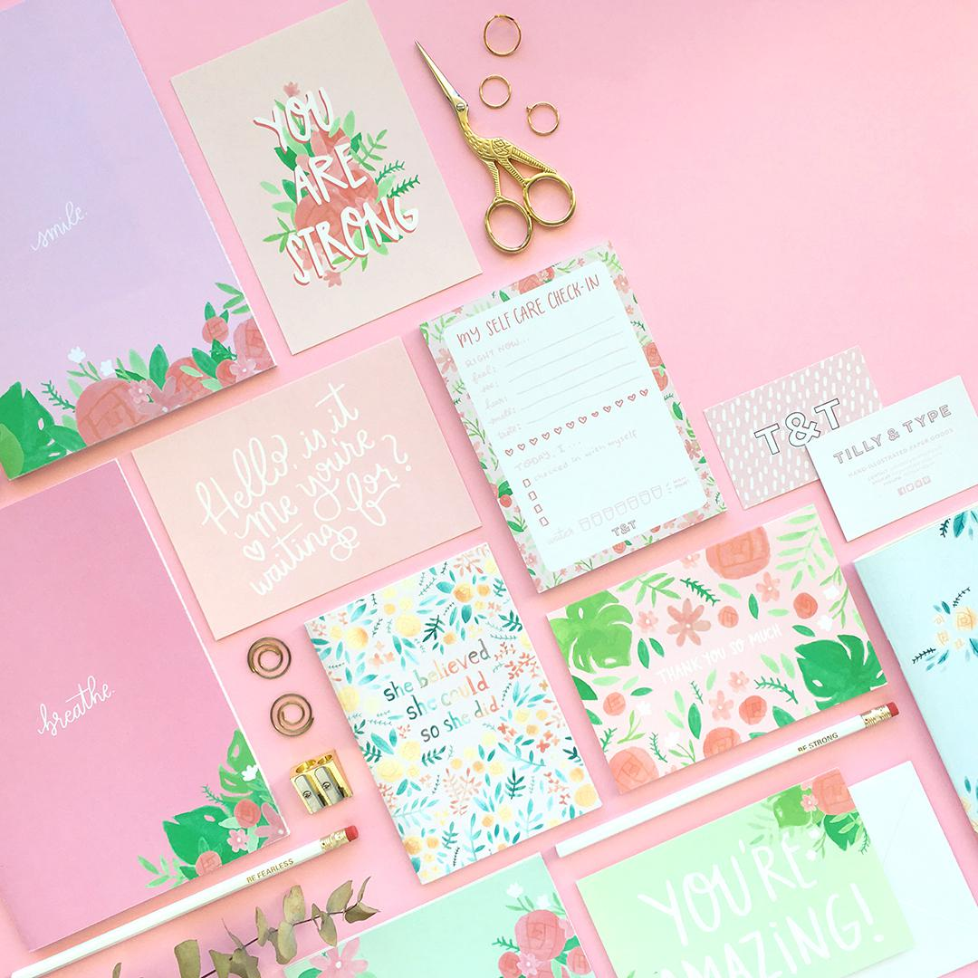 All of our stationery products are printed on recycled paper!