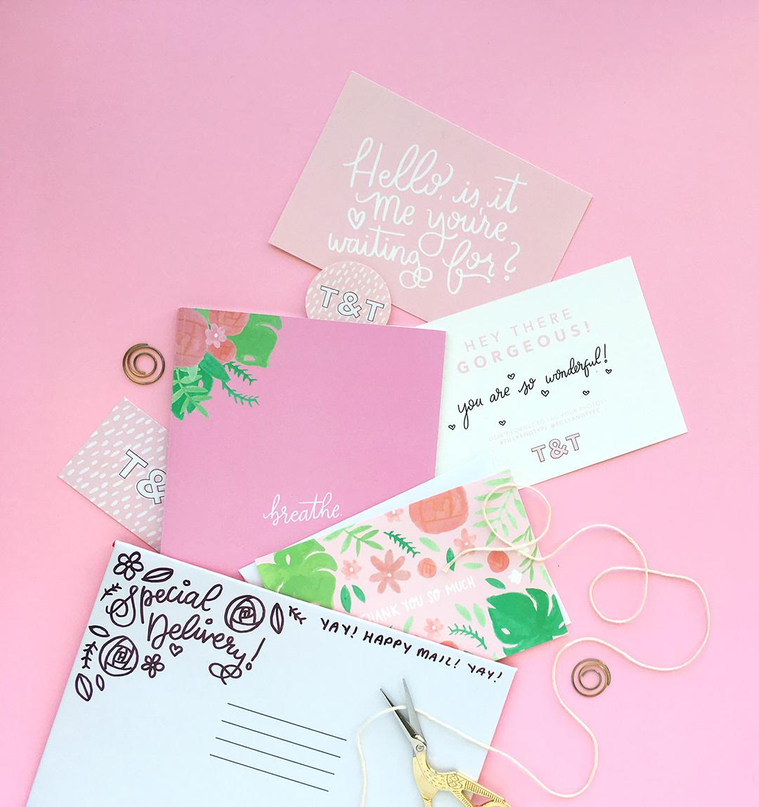 Cute and caring stationery delivered to your door