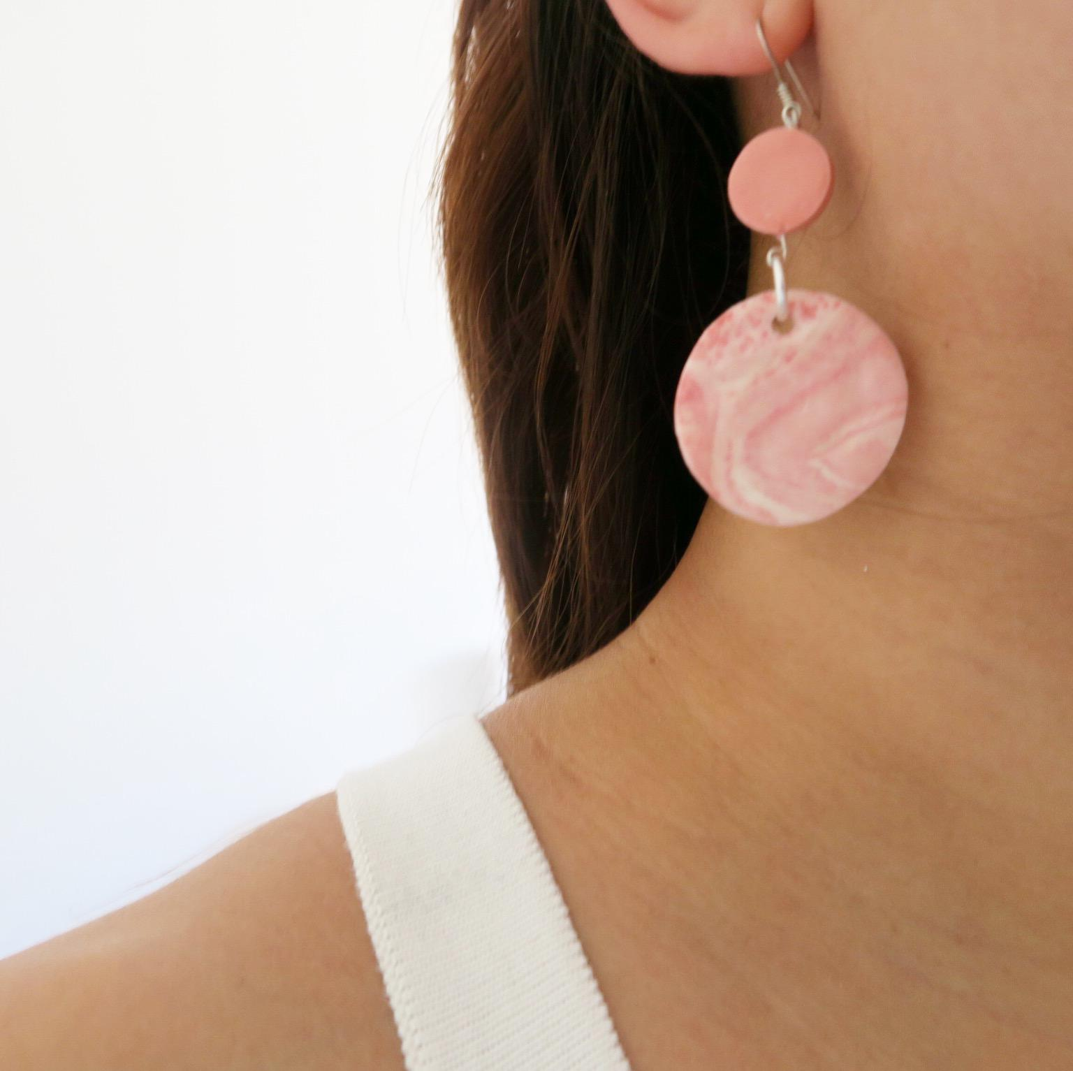 Pink Eco Clay Earrings