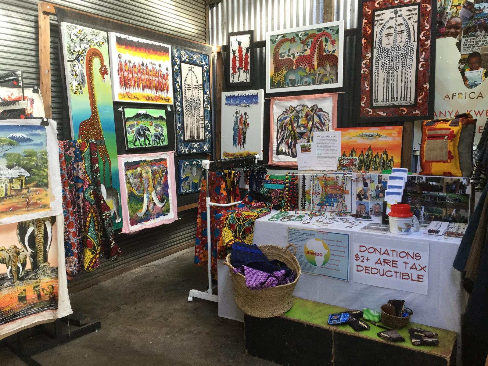 Upendo's Melbourne market stall at Rose St Artist Market