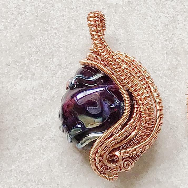 Lampwork Egg pendant