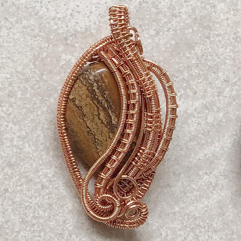 Tree Bark Egg pendant