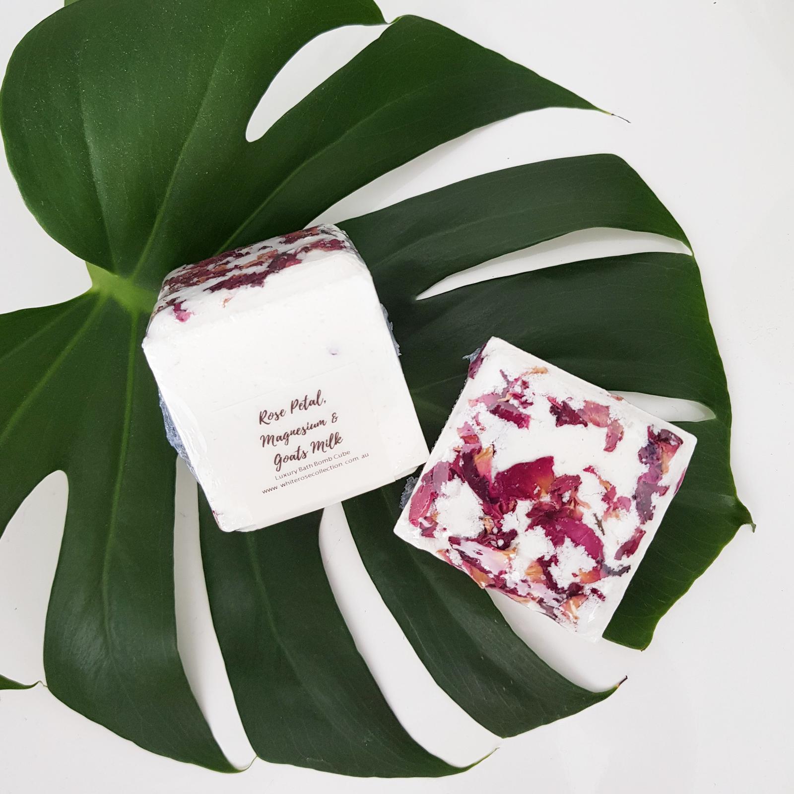 Cube Rose Petal Bath Bomb