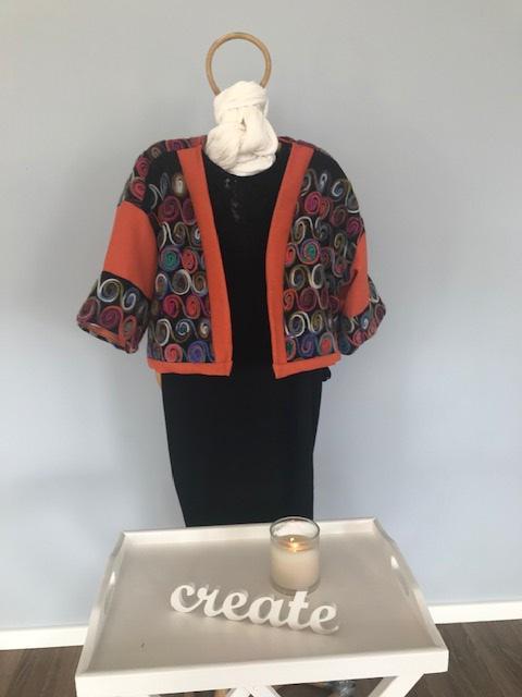Orange wool jackets