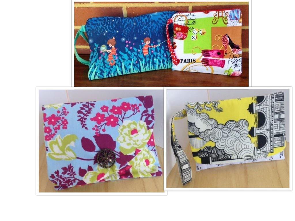 Fabric clutch bags