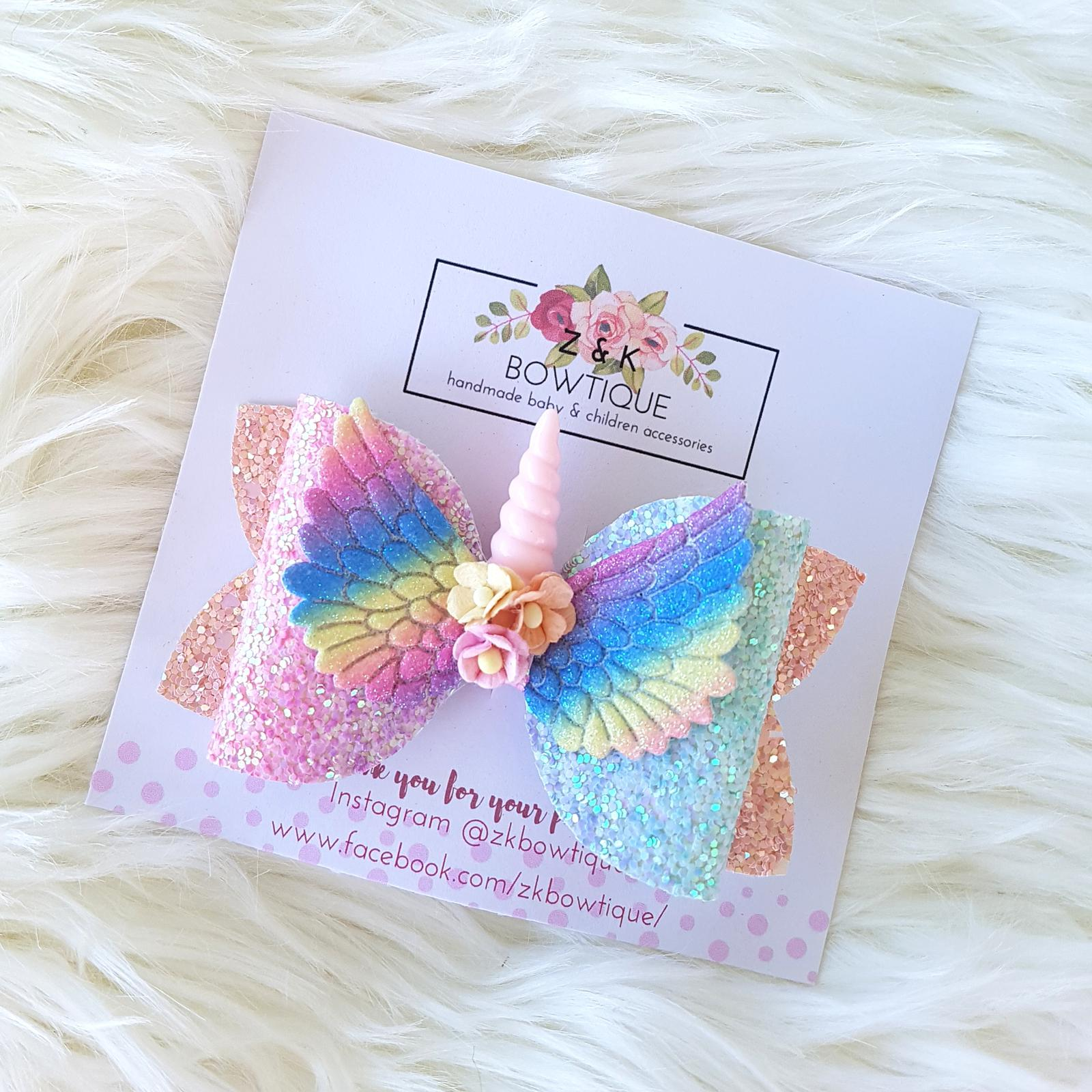 Unicorn Wings Bow