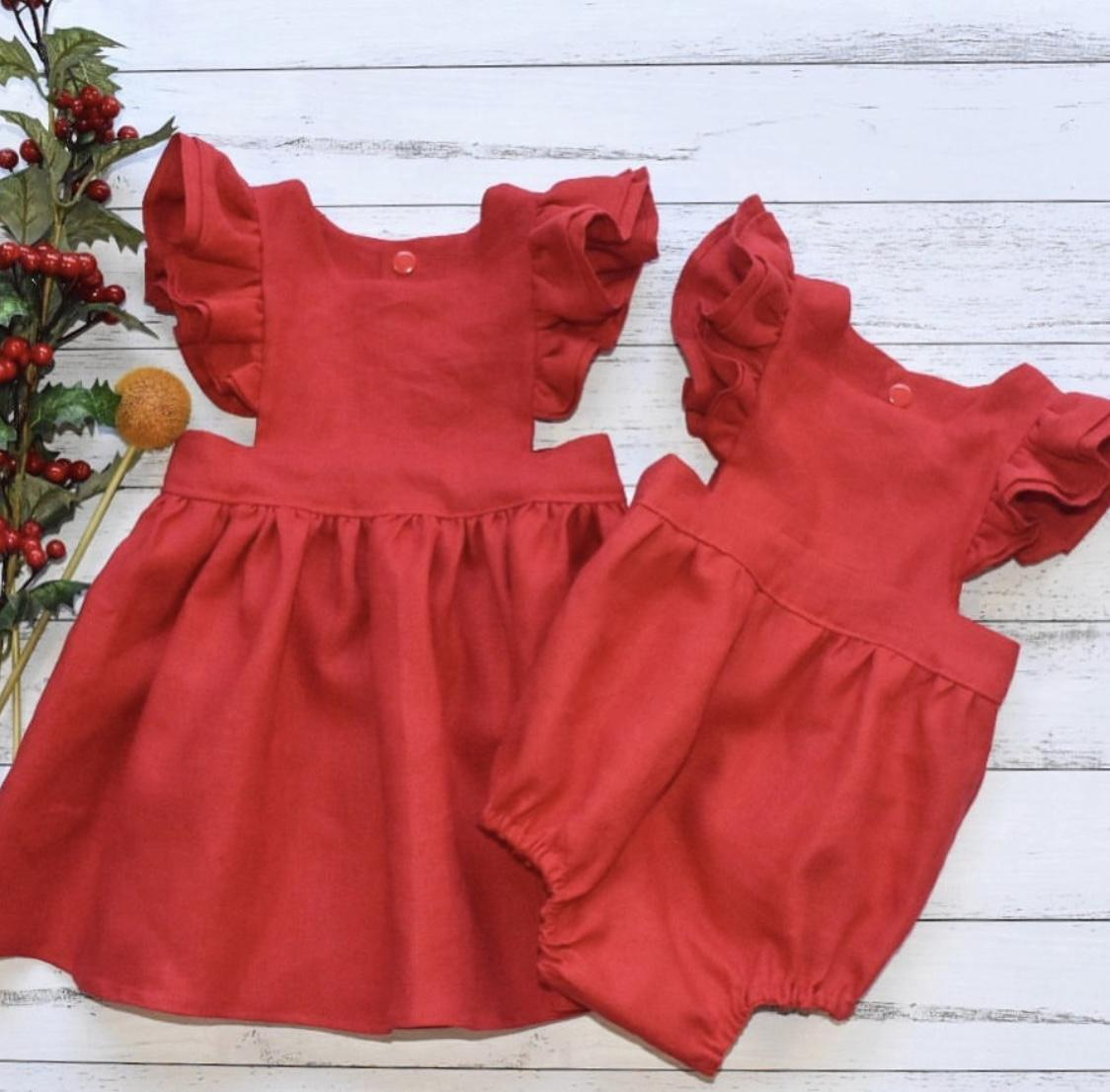 100% linen dress/romper