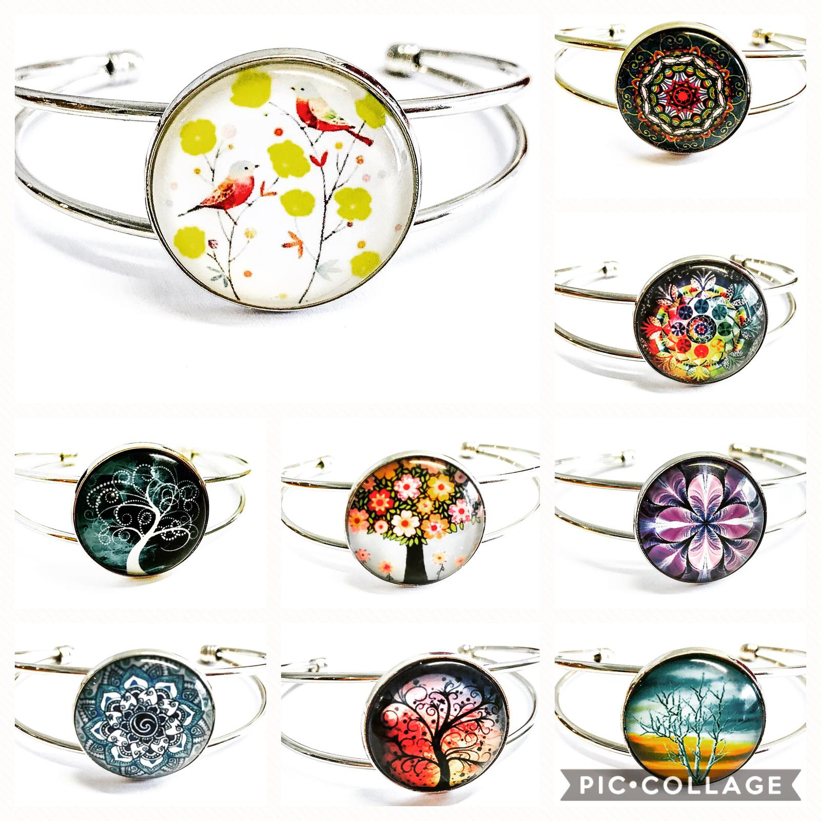 glass cabochon bangle